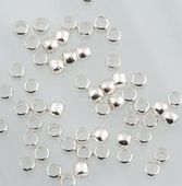 100 x Silver Plated Soft Crimp for floating necklaces